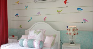 Mix Up Stencils to Get a Cute Girls' Bedroom