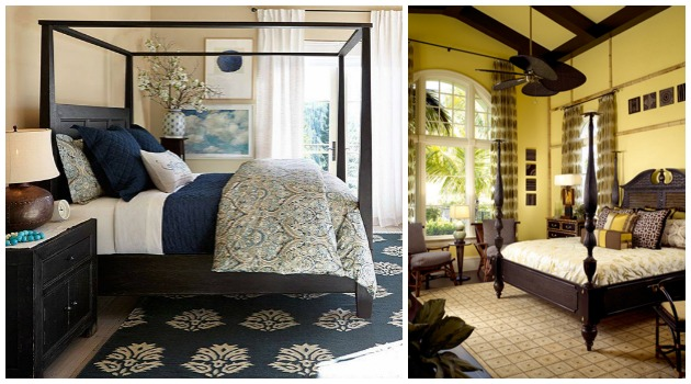 British Colonial Style Bedrooms Via Pottery Barn Paint Pattern