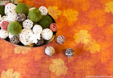How to: Stencil with Discharge Paste for an Elegant Autumn Table