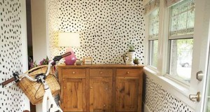 Before & After: Stencil a Happy Mud-room