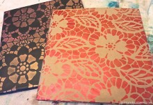 Stencil DIY: Back to School Book Covers