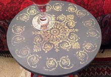 Stencil DIY: Side Table Inspired by Florentine Trays