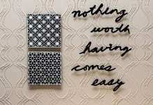 Stencil How-to: Stencil Embossing an Allover Pattern