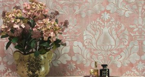 How to Stencil: Stenciling a Textured Fabric Wall Finish