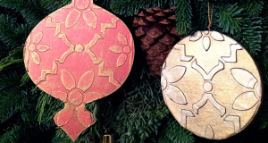 Easy Christmas Crafts for Kids: Stencil Homemade Tree Ornaments