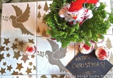 Stencil DIY: A Clever Table Runner Made of Tiles