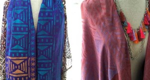 Stencil Designer Scarves Inspired by African Style Geometric Patterns
