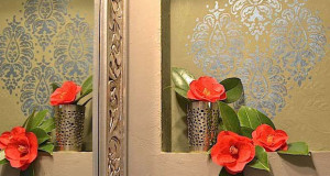 Perfectly Paisley: A Stenciled Niche Accent Wall
