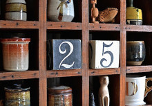 DIY Cube Calendar with Number Stencils