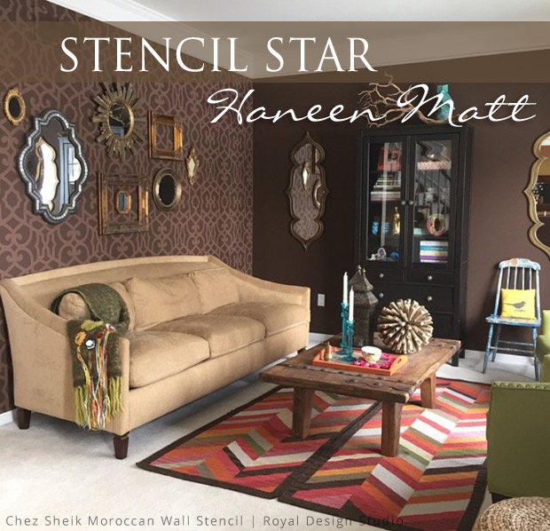 stencils for living room walls the hip stencil style of stencil haneen matt paint 22091