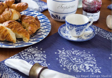 Inspired by Indigo: Stencil a Sumptuous Table Setting