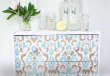IKEA Rast Dresser Hack with Stenciled Style
