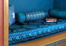 Moroccan Pillow Decor with Stencils and Beads