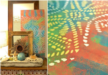 DIY Colorful Glass Wall Art with Stencils