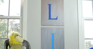 DIY Decor: Monogram Wall Art with a Metallic Touch