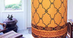 Stenciled Arabian Nights Pendant Light