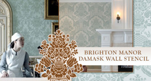 Get the Downton Abbey Look with Damask Wall Stencils
