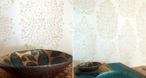 DIY Tutorial: Persian Garden Wall Stencil Goes to India
