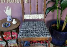 Thrift Store Upcycle: Stenciling an Upholstered Chair