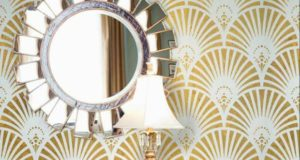 Interior Design Trend: Art Deco Wallpaper & Wall Stencils