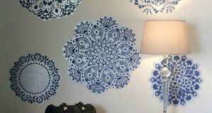 Decorating for Christmas! DIY Snowflake Wall Decals